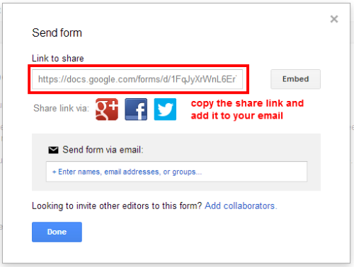 google-form-share-link